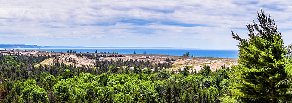 Dunes Along Lake Michigan by Lester Plank
