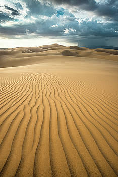 Dunes and Distant Cloudburst by Alexander Kunz