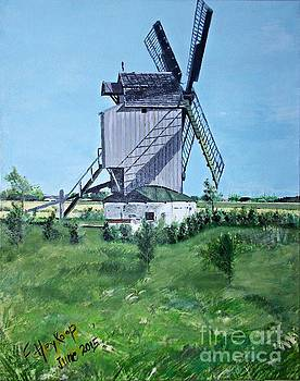 Dunkerque windmill North of France by Francine Heykoop