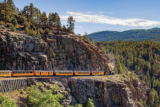 Durango-Silverton DSNG Narrow Gauge Railroad Train - Colorado by Gregory Ballos