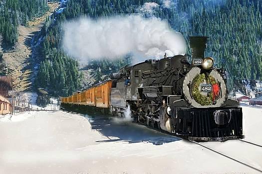 Durango to Silverton Train by Janette Boyd