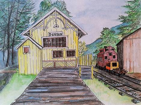Durbin, WV Station by Joan Mace