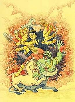 Durga by Yatindra Jasmathiya