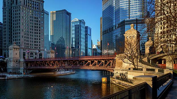 DuSable bridge, Chicago by Yves Keroack