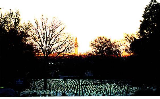 Clayton Bruster - Dusk At Arlington Cemetery