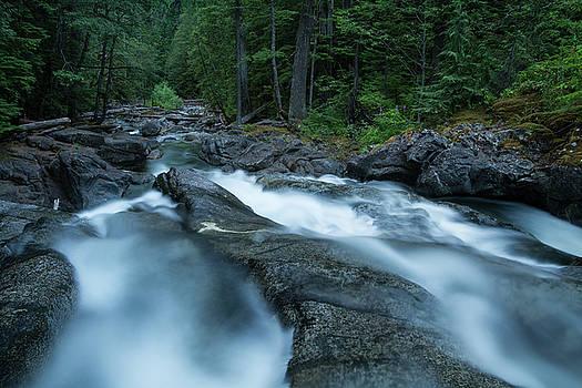 Dusk at Desception Falls // North Cascade National Park, Washington by Kirsten Dale