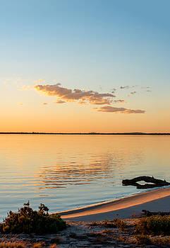 Dusk at Lake Bonney by Ray Warren