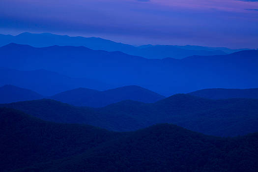 Dusk at the Blue Ridge by Andrew Soundarajan