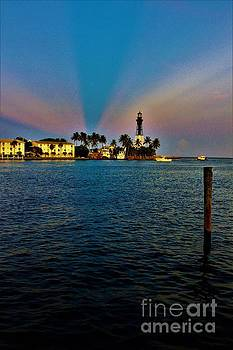 Dusk At The Light by Chuck Hicks