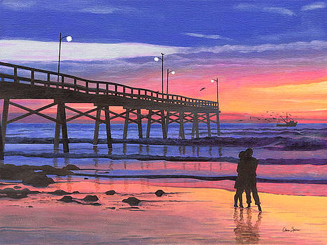 Dusk at the Pier by Christopher Spicer