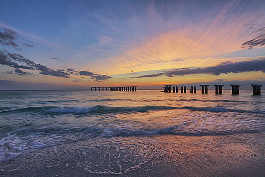 Dusk at the Pier by Claudia Domenig