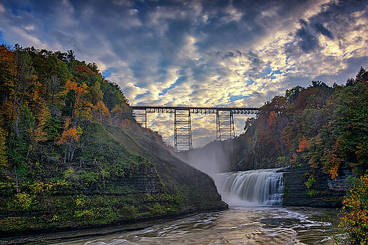 Dusk at the Upper Falls by Rick Berk