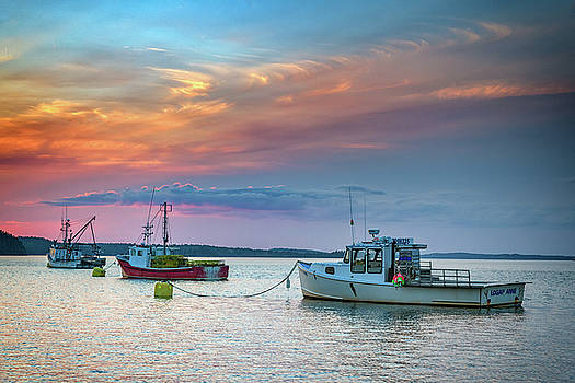 Dusk in Lubec Harbor by Rick Berk