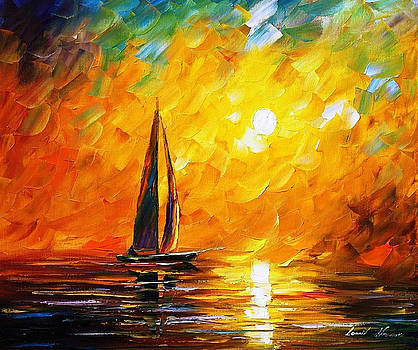 Dusk Of Nature - PALETTE KNIFE Oil Painting On Canvas By Leonid Afremov by Leonid Afremov
