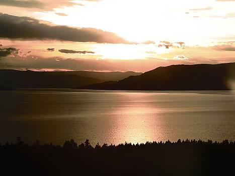Leah Grunzke - Dusk on Flathead Lake