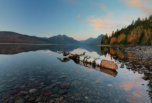 Dusk on Lake McDonald by Alan Anderson