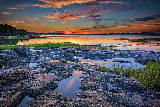 Dusk on Littlejohn Island by Rick Berk