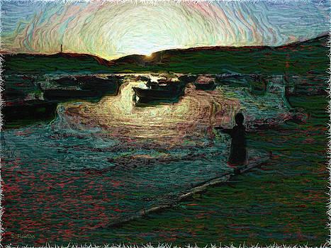 Dee Flouton - Dusky Harbor a la Van Gogh