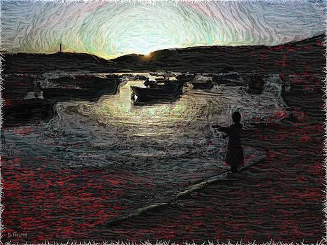 Dee Flouton - Dusky Harbor a la Van Gogh II
