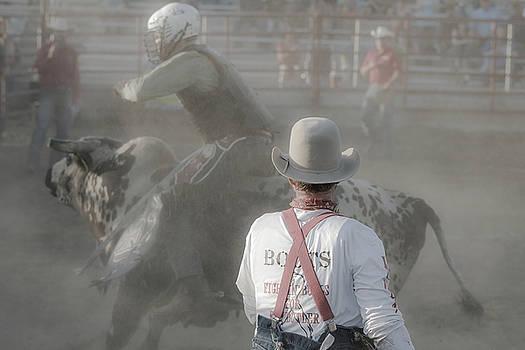 Dust Storm Bull Rider by Steven Bateson