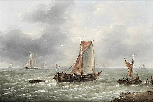 Dutch barges and other craft plying their trade by MotionAge Designs