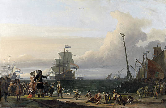 Ludolf Bakhuysen - Dutch Ships in the Roads of Texel