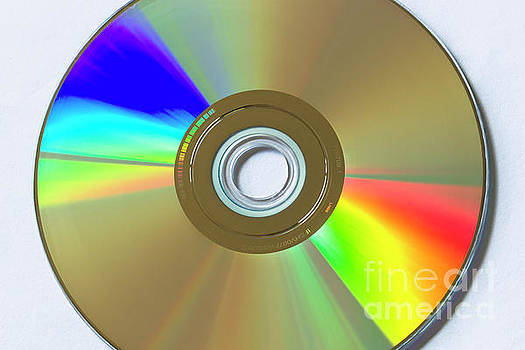 DVD disk light refraction by Carl Chapman