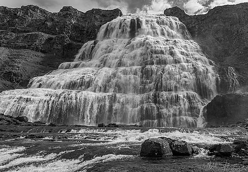 Dynjandi Waterfall, Iceland - 9322,SW by Wally Hampton