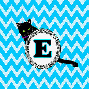 E Cat Chevron Monogram by Paintings by Gretzky