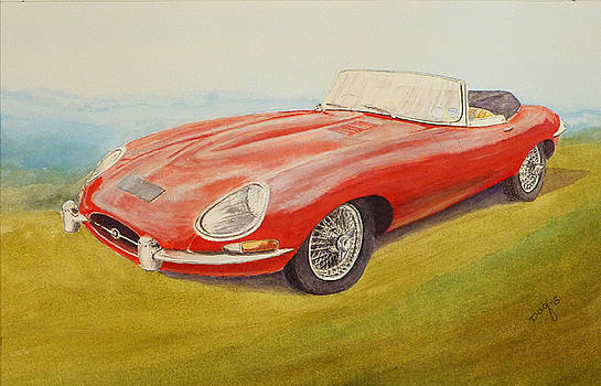 E-type Jaguar by David Godbolt
