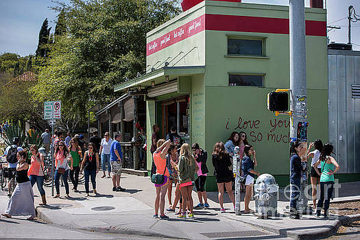 Herronstock Prints - Each weekend thousands of people cram South Congress Avenue Austins most hip strip featuring an array of eclectic shops restaurants boutiques antiques music venues and galleries