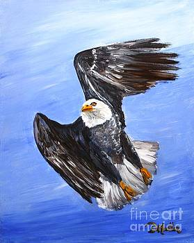 Eagle in Flight by Donna Muller
