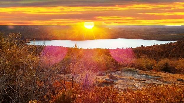 Mike Breau - Eagle Lake Sunrise-Acadia National Park
