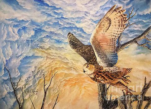 Eagle owl by Anne Koivumaki - Fine Art Anne