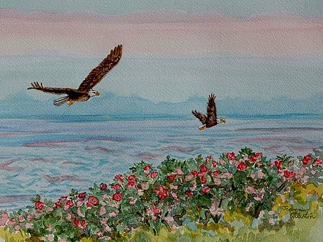 Eagles Fly over the Bay by Jeannie Allerton