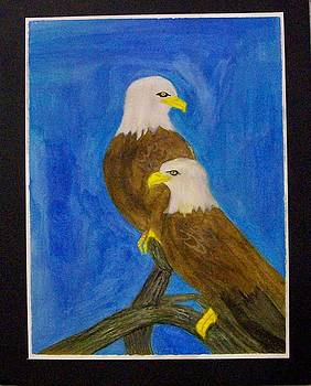 Eagles Standing Guard by Mark Richard Luther