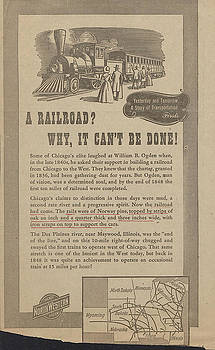 Chicago and North Western Historical Society - Early 1900s Train History Leaflet