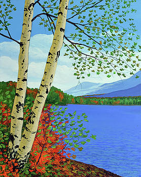 Early Autumn Birches by Eugene Kuperman