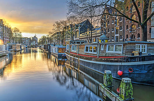 Early Evening in Amsterdam by Frans Blok
