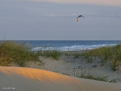 Early Evening Kite Surfing by Matt Taylor