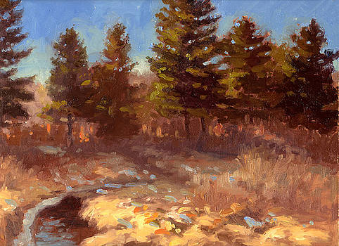 Early Frost Fall Creek- plein air by Larry Seiler