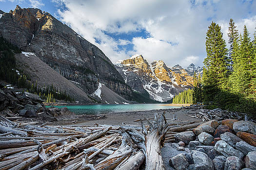 Early Morning at Moraine Lake by Stuart Gennery