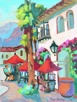 Early Morning Coffee in Old Town La Quinta 2 by Diane McClary