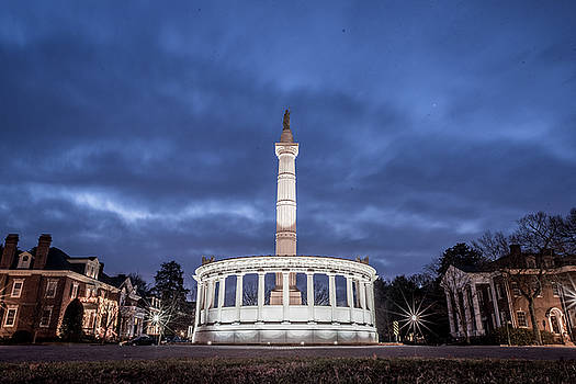 Early Morning Jefferson Davis Statue by Doug Ash