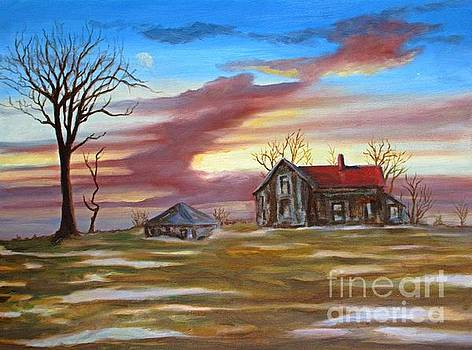 Early Morning Old Homestead Memories by John Malone