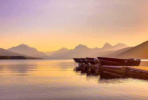 Early Morning on Lake McDonald by Adam Mateo Fierro