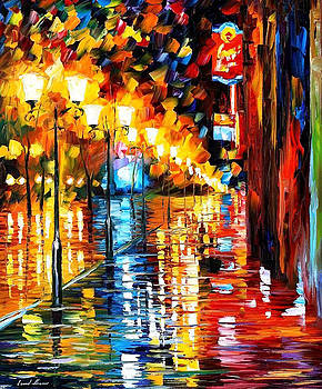 Early Morning - PALETTE KNIFE Oil Painting On Canvas By Leonid Afremov by Leonid Afremov