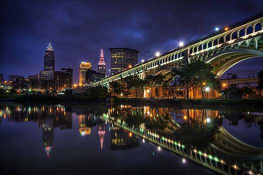 Early Morning Riverside in Cleveland by At Lands End Photography