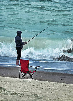 Early Morning Surf Fishing by Sandi OReilly