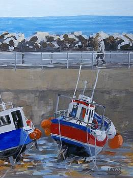 Early Morning Walk, Staithes by Fred Urron